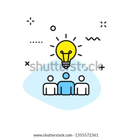 Creativity and Idea web icons in line style. Creativity, Finding solution, Brainstorming, Creative thinking, Brain. Vector illustration