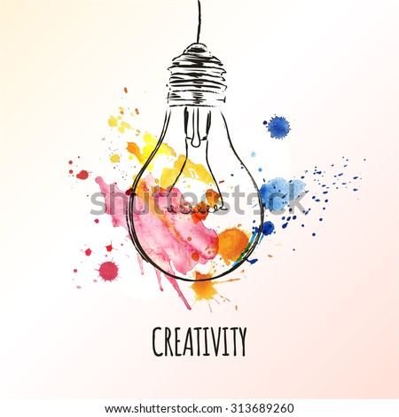 creativity concept light bulb