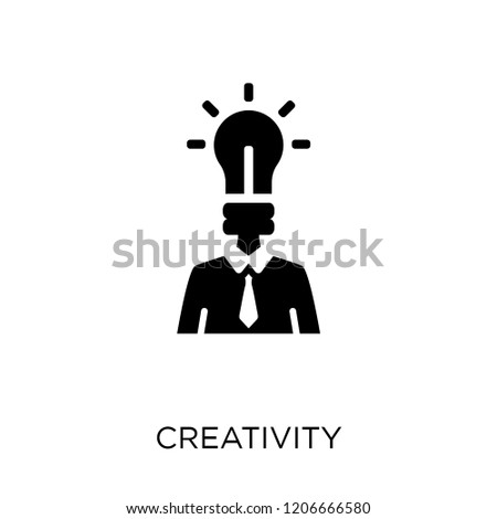 Creativity icon. Creativity symbol design from Time managemnet collection.