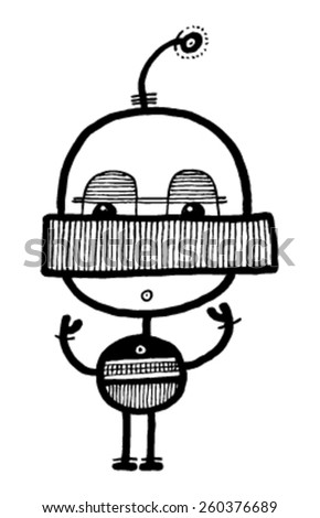 CREATURE people funny caricature graphic simple figure cartoon baby eyes circle head circle body small