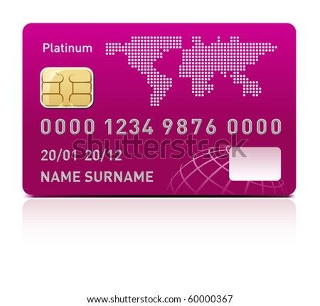 Credit card - stock vector