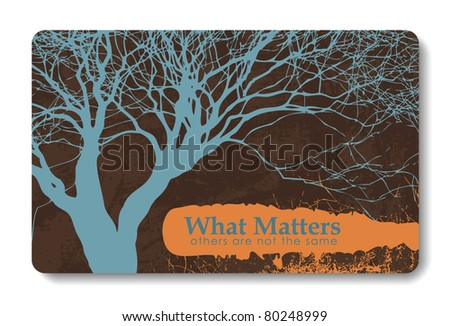 credit card / business card background design of standard size with a place for text message