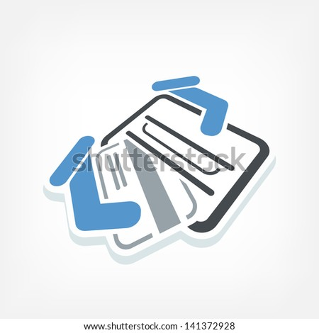 Credit card 3d label