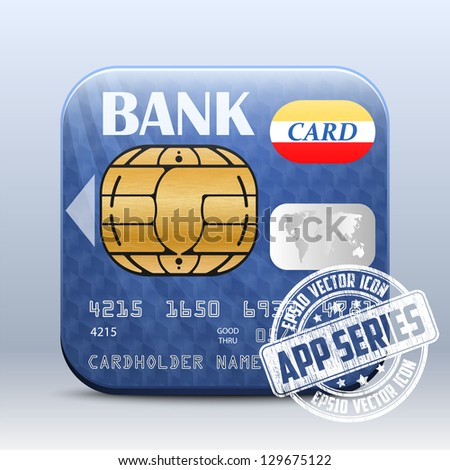 Credit Card Icon. App Series