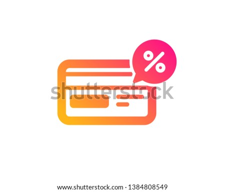 0cb45df7b Credit card icon. Banking Payment card with Discount sign. Cashback service  symbol. Classic · Discount price tag with classic lingerie.