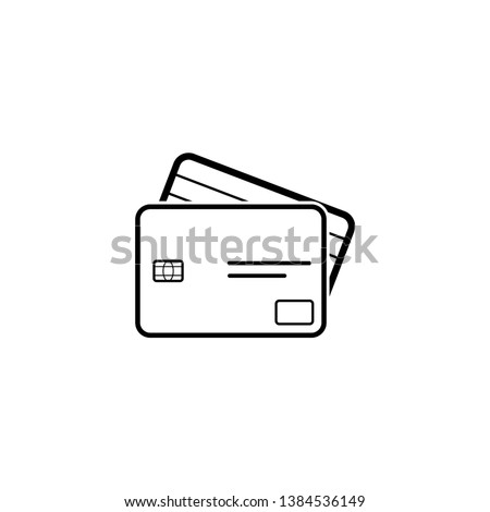 Credit Card icon illustration - Vector