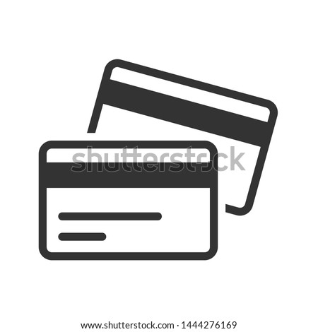 Credit card icon, Two cards on top of each other Foto stock ©