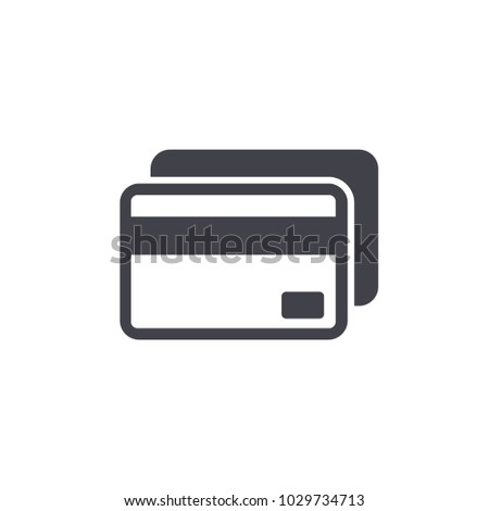credit card icon vector Eps10