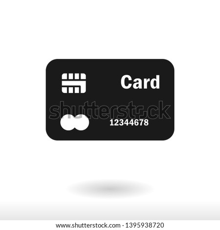 Credit card icon vector  payment sign