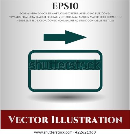 credit card icon vector symbol flat eps jpg app web