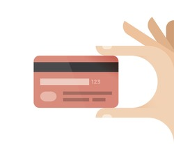 Credit card in businessman hand. Idea - Mobile payment, Online shopping and electronic banking, salary, pension, savings etc.