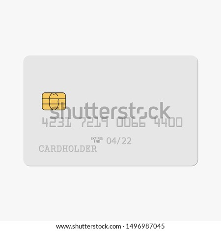 Credit card isolated. Vector illustration.