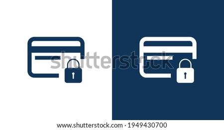 Credit card locking icon illustration isolated vector sign symbol Foto stock ©