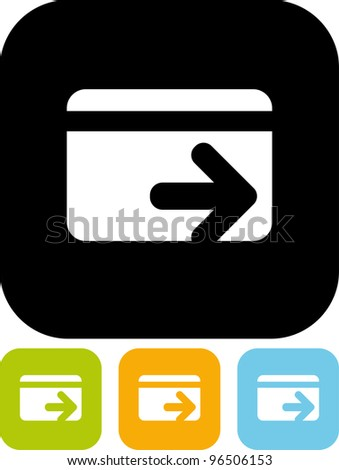 Credit card money transaction - Vector icon isolated