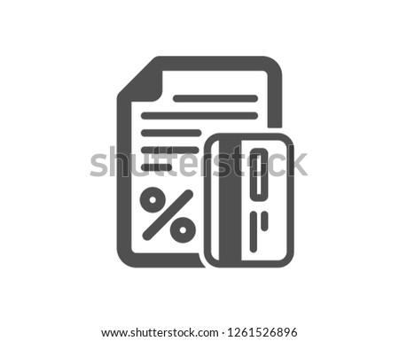 1bc0d1303 Credit card percent icon. Discount sign. Loan percentage symbol. Quality  design element.