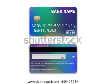realistic credit card set download free vector art stock graphics
