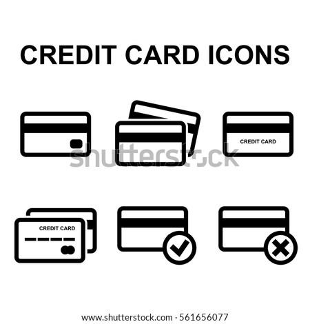 credit card vector icon set