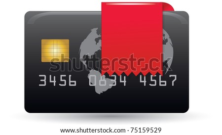 Credit card with ribbon