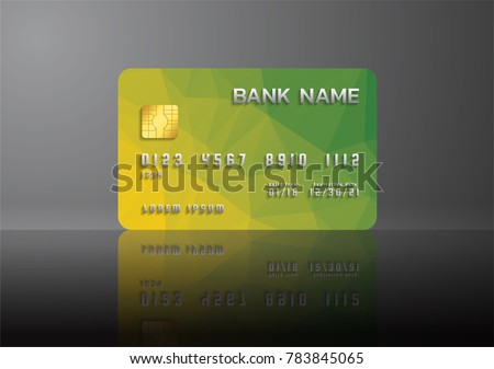 Credit card layout download free vector art stock graphics images credit card yellow and green on grey background with shadow abstract design for business colourmoves