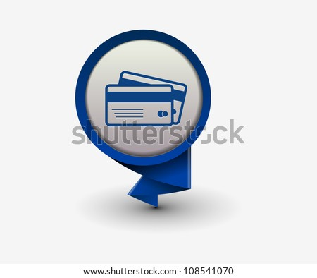 credit cards icon, vector