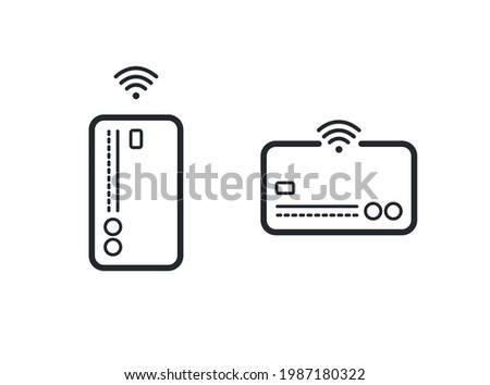 CREDIT CARDS WITH WI-FI FUNCTION ICON