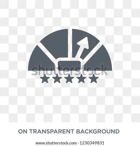 credit rating icon. Trendy flat vector credit rating icon on transparent background from general  collection.