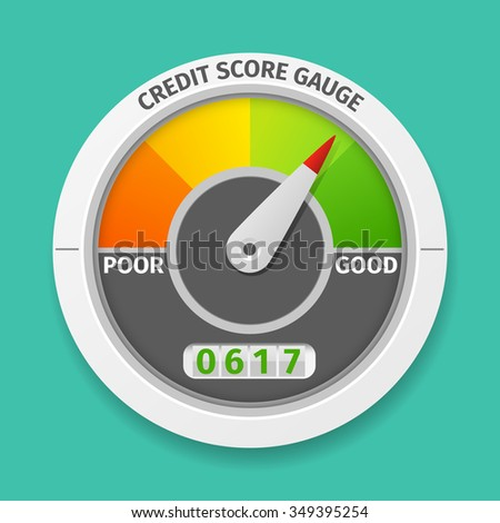 credit score gauge good and bad