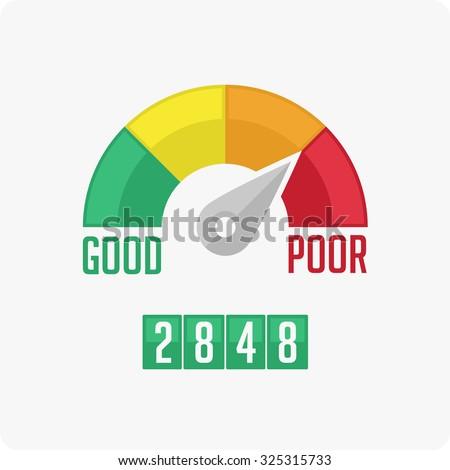 Credit Score Gauge. Vector EPS 10.