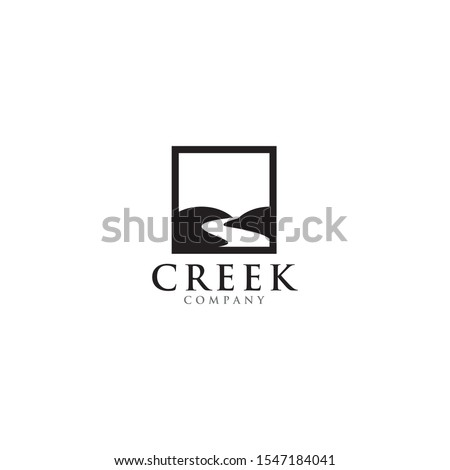 creek and river icon logo