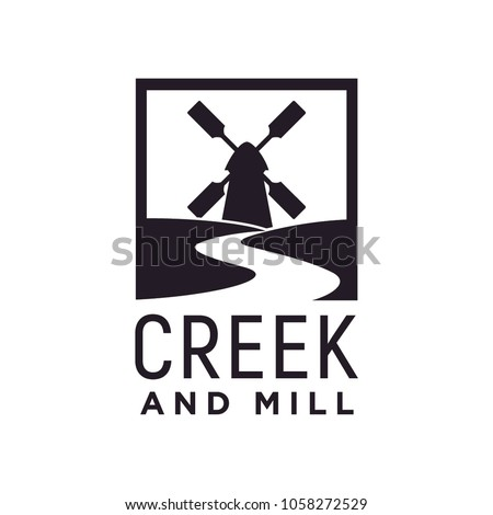 Creek and Wind Mill Farm logo design inspiration