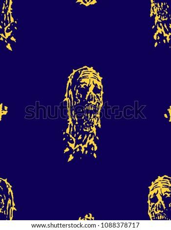 creepy dead head pattern image
