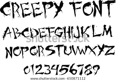 creepy font   vector
