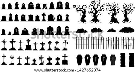 creepy halloween graveyard