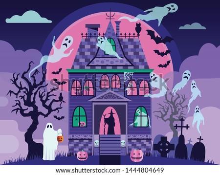 creepy halloween haunted house