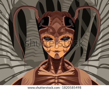creepy monster insect queen lady