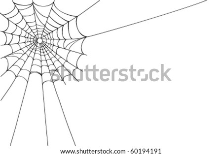 Creepy spider web in the corner. Vector illustration saved as EPS AI 8, no effects, easy printing.
