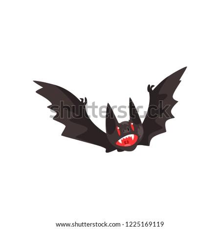 creepy vampire bat vector