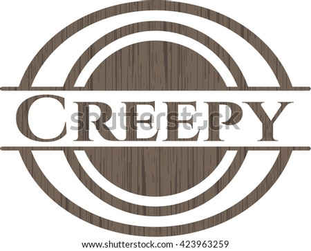 Creepy wooden emblem