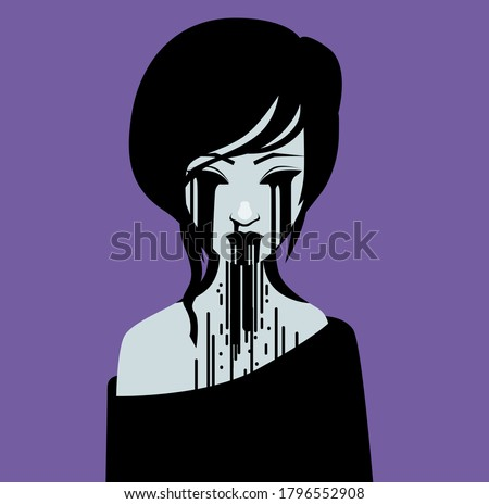 creepypasta emo lady ghost with