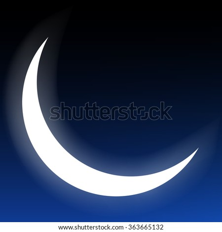 crescent moon isolated on a