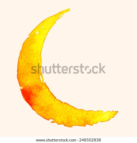 crescent moon of painting with