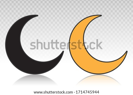 crescent moon or night