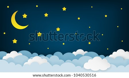 crescent moon  stars  and