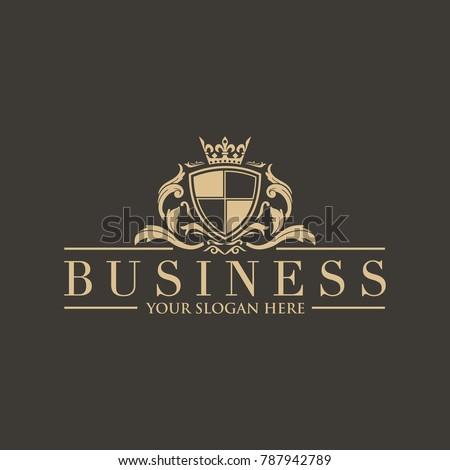Crests logo Hotel logo luxury letter monogram vector logo design Fashion brand identity Vector logo template