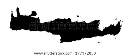 crete vector map high detailed