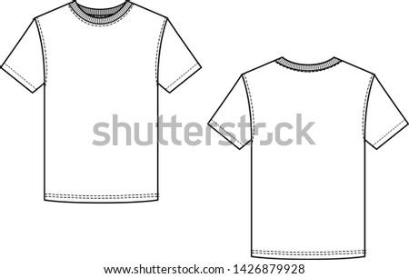 crew neck tee shirt short sleeve, blank cad, fashion cad, men's tee shirt