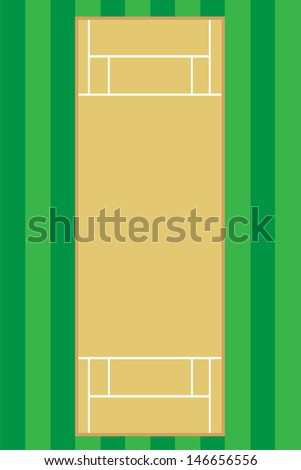 cricet pitch vector illustration