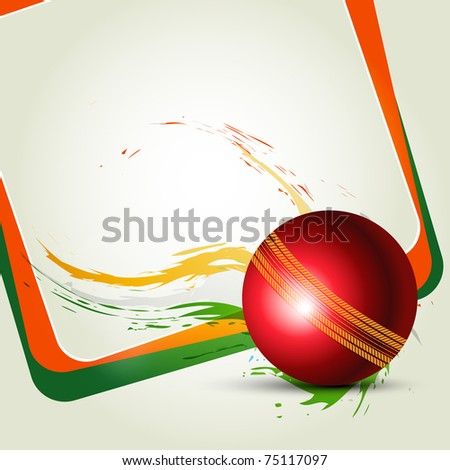 Cricket ball on abstract background