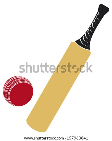 cricket bat and cricket ball