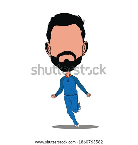 Cricket player celebration illustration cartoon and caricature. Indian players